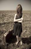 Girl at outdoor. Royalty Free Stock Photo