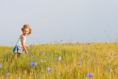 Girl outdoor Royalty Free Stock Image