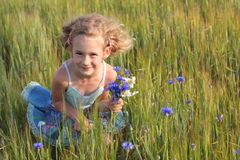 Girl outdoor Stock Image