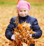 Girl outdoors Royalty Free Stock Images