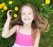 Girl outdoors Royalty Free Stock Photos