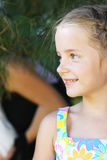 Girl outdoors Royalty Free Stock Image