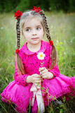 Girl outdoors Royalty Free Stock Photography