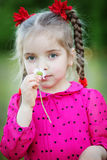 Girl outdoors Royalty Free Stock Photo