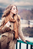 Girl Outdoors. Serenity Concept Stock Photography