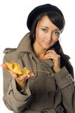Girl  in outer clothing Royalty Free Stock Photography