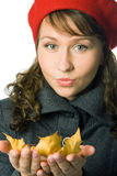 Girl  in outer clothing Royalty Free Stock Images