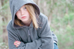 Girl outside. Pretty girl outside in winter Royalty Free Stock Images