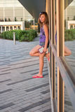 Girl Outside School Royalty Free Stock Photo