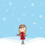 Girl over snow Stock Photography