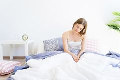 Girl is overslept Royalty Free Stock Image