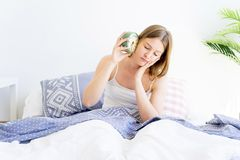 Girl is overslept Royalty Free Stock Photography