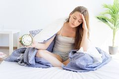 Girl is overslept Stock Photos