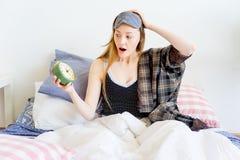 Girl is overslept Stock Photography