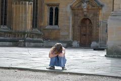 Girl in Oxford stock photo