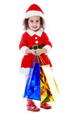 Girl with packages Stock Image