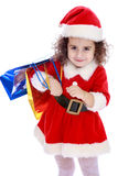 Girl with packages Royalty Free Stock Photo