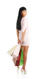 The girl with packages from shop Royalty Free Stock Photo