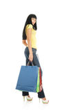 The girl with packages from shop Stock Photography