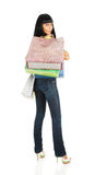 The girl with packages from shop Stock Photo