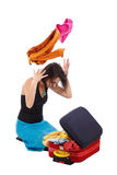 Girl packing Stock Photography