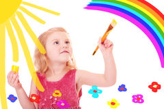 Girl with paint Stock Image