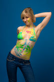 Girl in the paint Royalty Free Stock Images