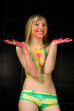 Girl in the paint Stock Images