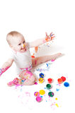 Girl with paint Royalty Free Stock Photo