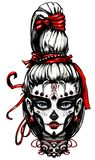 Girl painted day of the dead. Girl painted for day of the dead royalty free illustration