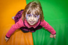 Girl with painted face royalty free stock photo