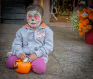 Girl with Painted Face, San Miguel Stock Photos