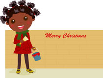 Girl painter. christmas Royalty Free Stock Images