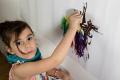 Girl painter Royalty Free Stock Photography