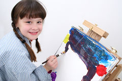 Girl Painting 02 royalty free stock image