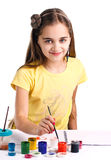 Girl Painting Stock Images