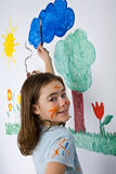 Girl painting Stock Photo