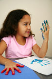 Girl Painting Stock Photography