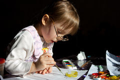 Girl painting Royalty Free Stock Image