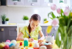 Girl painting Royalty Free Stock Photo