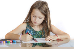 Girl painting a picture Royalty Free Stock Photos
