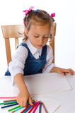 Girl paints Royalty Free Stock Image