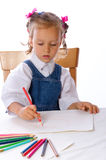 Girl paints Royalty Free Stock Images