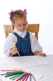 Girl paints Stock Photography