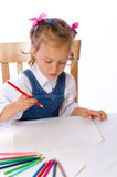 Girl paints Stock Images