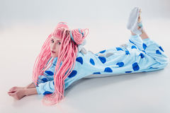 Girl in pajamas Stock Photos