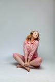 Girl in pajamas Royalty Free Stock Image