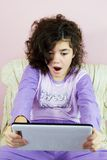 Girl in pajamas Royalty Free Stock Photo