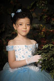 Girl in a pale blue ball gown Stock Images