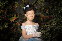 Girl in a pale blue ball gown Royalty Free Stock Image